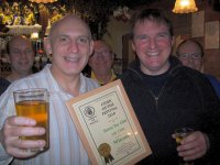 Jez of 146 Cider accepting his first CAMRA award