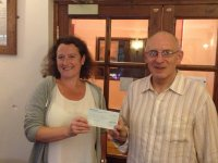 Southampton Opportunity Group receives a cheque from donations at Southampton Beer Festival