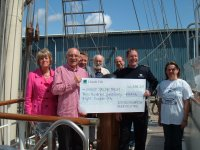 Southampton Beer Festival 2011 charity presentation to the Jubilee Sailing Trust