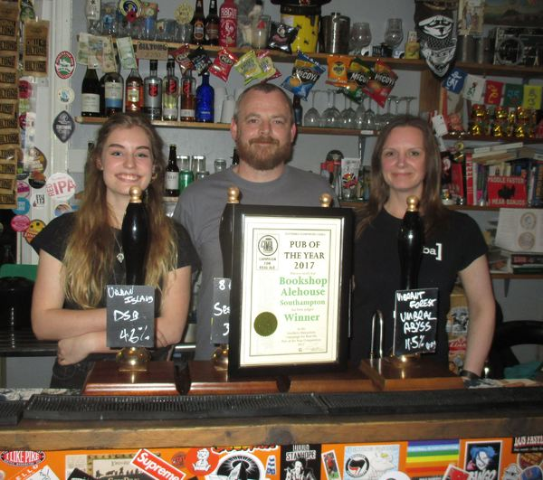 The Bookshop Alehouse - Southern Hampshire CAMRA Pub of the Year 2017